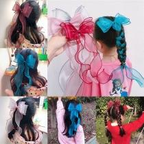 Nettes Haarband aus Tüll für Kinder mit Schleife und Fischschwanz-Design 3 Stück/Set