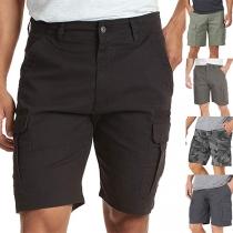 Lässige Knielange Shorts für Herren mit Seitentaschen und Mittlerer Taille