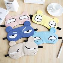 Niedliche Atmungsaktive Schlafaugenmasken mit Cartoon-Motiv 2 Stück/Set