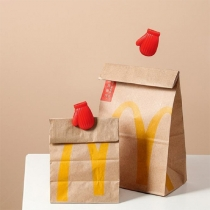 Kreative Handschuhförmige Versiegelungsclips für Lebensmittelbeutel 2 Paar/Set