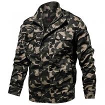 Moderne Jacke für Herren mit Tarnmuster Langen Ärmeln und Stehkragen