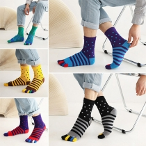 Modische Socken in Kontrastierenden Farben mit Separater Zehenpartie 2 Paar/Set