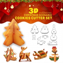 Kreative Ausstechformen aus Edelstahl in Weihnachtsszenario-Formen Set 8 Stück/Set