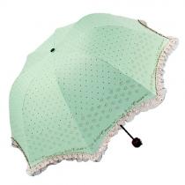 Faltender Regenschirm fur süßes Mädchen mit spitzenartiger Gepunktete