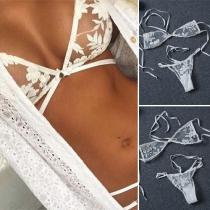 Sexy verführerische Bikini in Lingerie-Stil mit transparenter Spitze