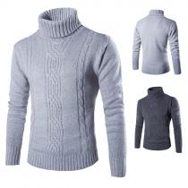 Fashion Herren Rollkragen-Pullover mit Rollkragen
