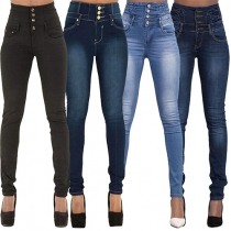 Fashion sexy hoch-tailliert Stretch Skinny-Fit Jeans