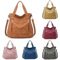 Fashion Solid Color Multi-function Canvas Handbag