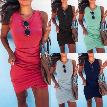 Stylische Slim Fit Tank Kleid