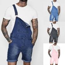 Fashion High Waist Men's Denim Overalls