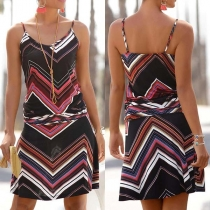 Strandkleid mit Zick-zack-Muster