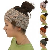 Fashion Mixed Color Knit Hair Band Hat
