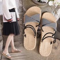 Einfache Multifunktionale Sandalen mit Flachen Absätzen und Offenen Zehen