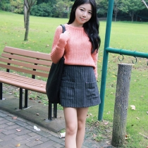 Fashion Solid Color Round Neck Long Sleeve Knitting Sweaters