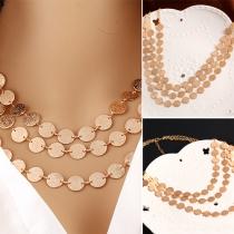 Mode Münzen Mehrlagige Halskette Damenschmuck