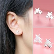 Mode Elegante Sterne Pentagramm Ohrstecker