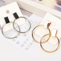 Mode Geometrische Runde Ohrringe