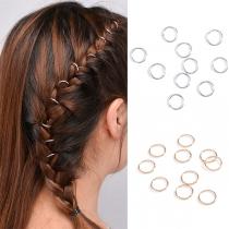 Modern Gold/Silber Runde Haar-Accessoires 10 Stück / Set