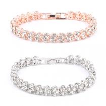 Simple Style Rhinestone Bracelet