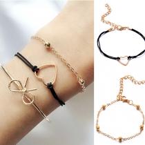 3-teilige stilvolle Armbänder aus Legierung