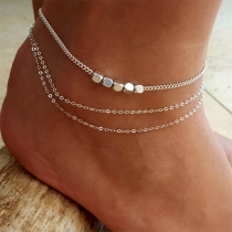 Stylische mehrsichtige Fußkette aus Legierung