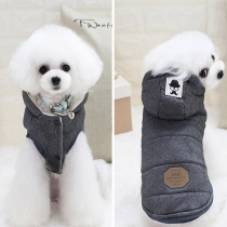 Fashion Solid Color Sleeveless Hooded Pets Vest