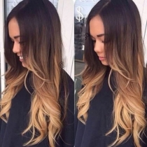 Hot Sale Color Gradient Long Curly Wigs
