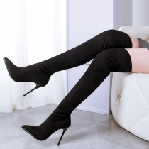 Sexy High-heeled Pointed Toe Over-the-knee Boots