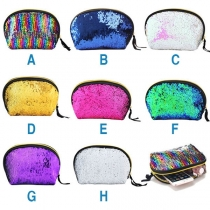 Fashion Contrast Color Sequin Clutch