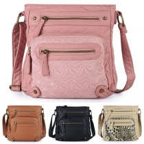 Fashion Solid Color Shoulder Messenger Bag