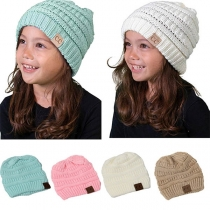 Fashion Solid Color Knit Beanies for Kids
