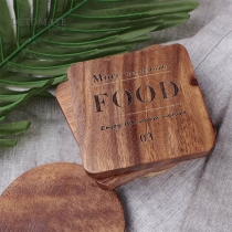 Creative Style Square/Round-shape Wooden Cup Mat Insulation Mat