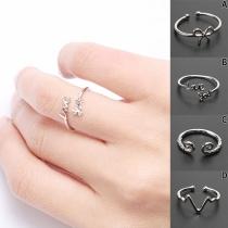 Fashion SIlver-tone Alloy Open Ring