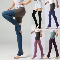 Fashion Solid Color Over-the-knee Knit Socks