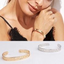 Fashion Hollow Out Pentagram Open Bracelet
