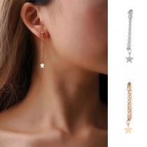 Fashion Pentagram Pendant Tassel Earring