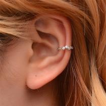 Fashion Rhinestone Inlaid U-shaped Ear-clip Stud Earring