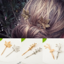 Fresh Style Leaf Tree-branch Shaped Hairpin