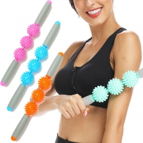 Sports Style Hedgehog Ball Massage Stick Fitness Equipment