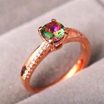 Fashion Colorful Rhinestone Inlaid Alloy Ring