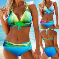 Sexy Bikini-Set mit Farbverlauf und Trägern