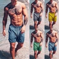 Moderne Strandshorts für Männer mit Elastischer Taille und Schickem Muster