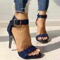 Sexy Schuhe mit Hohen Absätzen und Freien Zehen