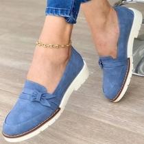 Moderne Schuhe mit Flachen Absätzen und Runden Zehkappen