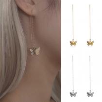 Schöne Ohrringe mit Schmetterlingsanhänger