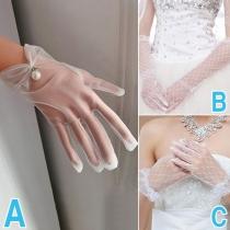Moderne Hochzeitshandschuhe aus Mesh
