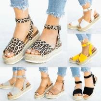 Moderne Sandalen mit Dickem Absatz und Freien Zehen