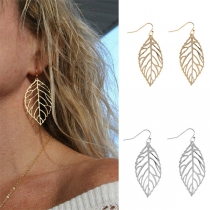 Modern Ausgeschnittene Blattförmige Ohrringe