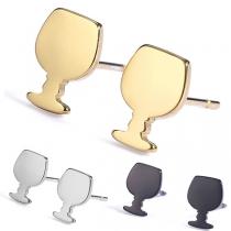 Schicke Stilvolle Ohrstecker in Weinglasform