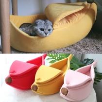 Nettes Bananenförmiges Haustierbett